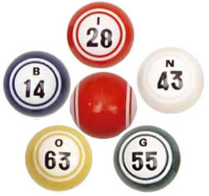 Double Number Bingo Balls