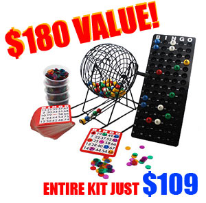 Bingo Cage Party Set