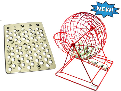 Red Professional Bingo Cage Set