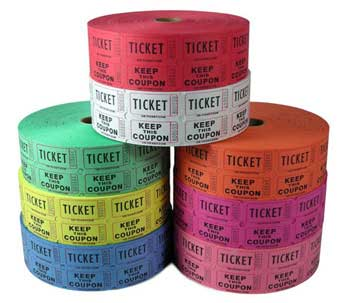 Standard Double Roll Raffle Tickets
